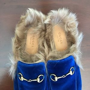 Gucci Shoes - Gucci Princetown Velvet Slippers